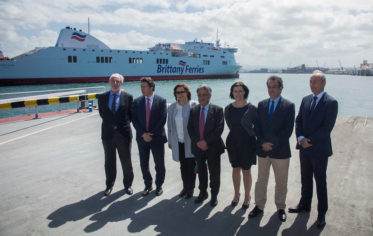 Puerto de Santander    buque Connemara   inauguraciu00f3n lu00ednea