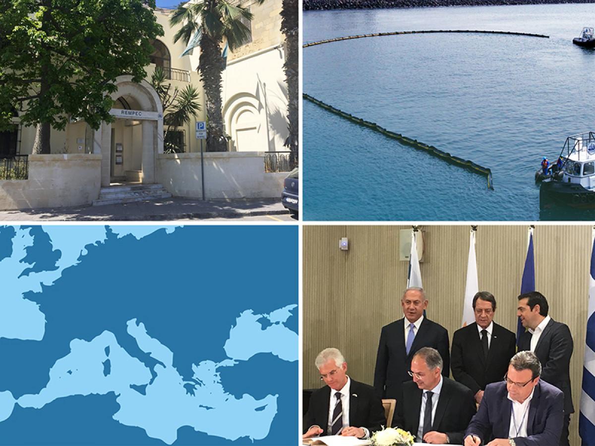 OMI   Plan de contingencia   Cyprus, Greece and Israel sign pollution contingency plan small