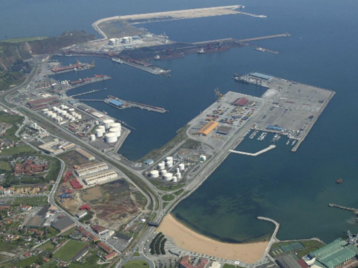 Puerto de Giju00f3n   au00e9rea