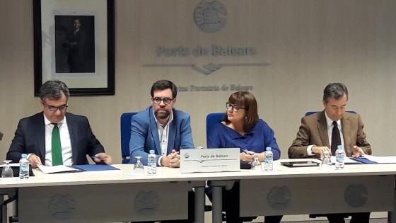 Puertos de Baleares   Firma protocolo Pol Maru00ed