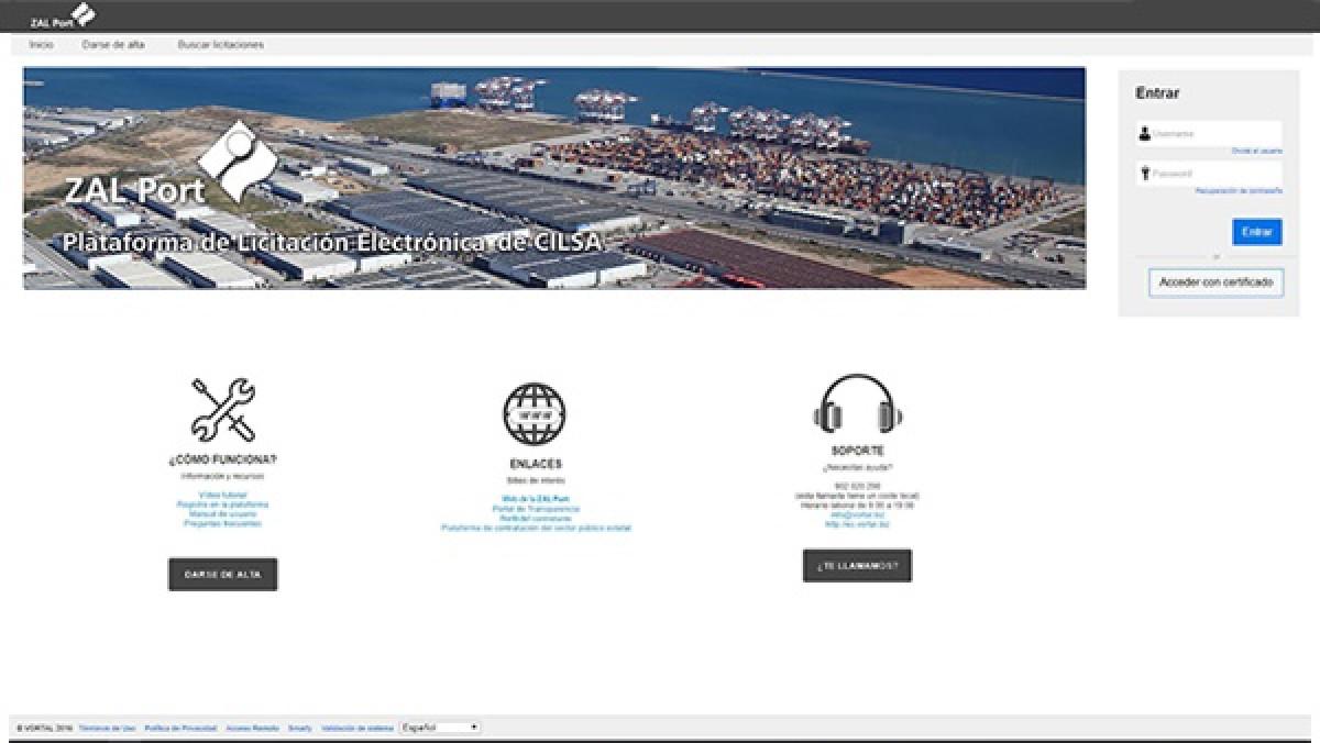 Zal Port   Plataforma electru00f3nica
