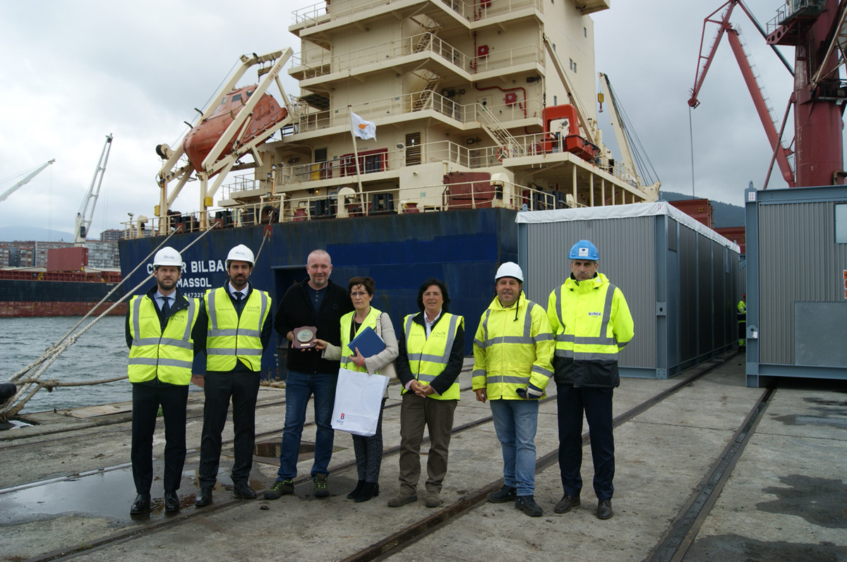 Bilbao entrega metopa barcos Condor junio 18