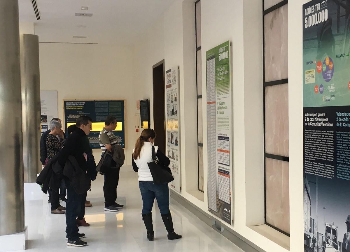 Valenciaport   Visitantes exposiciu00f3n t millones TEUs