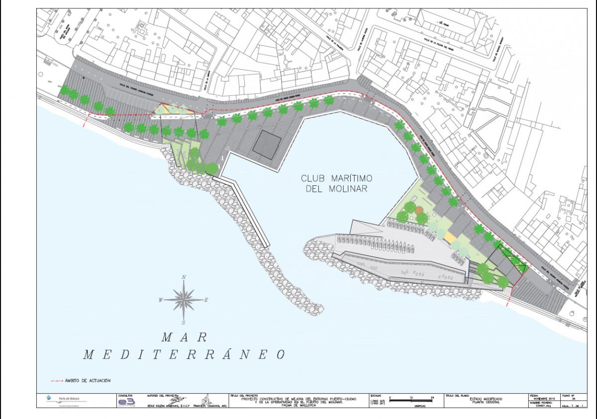 Puerto de Baleares   Puerto de El Molinar   Plano