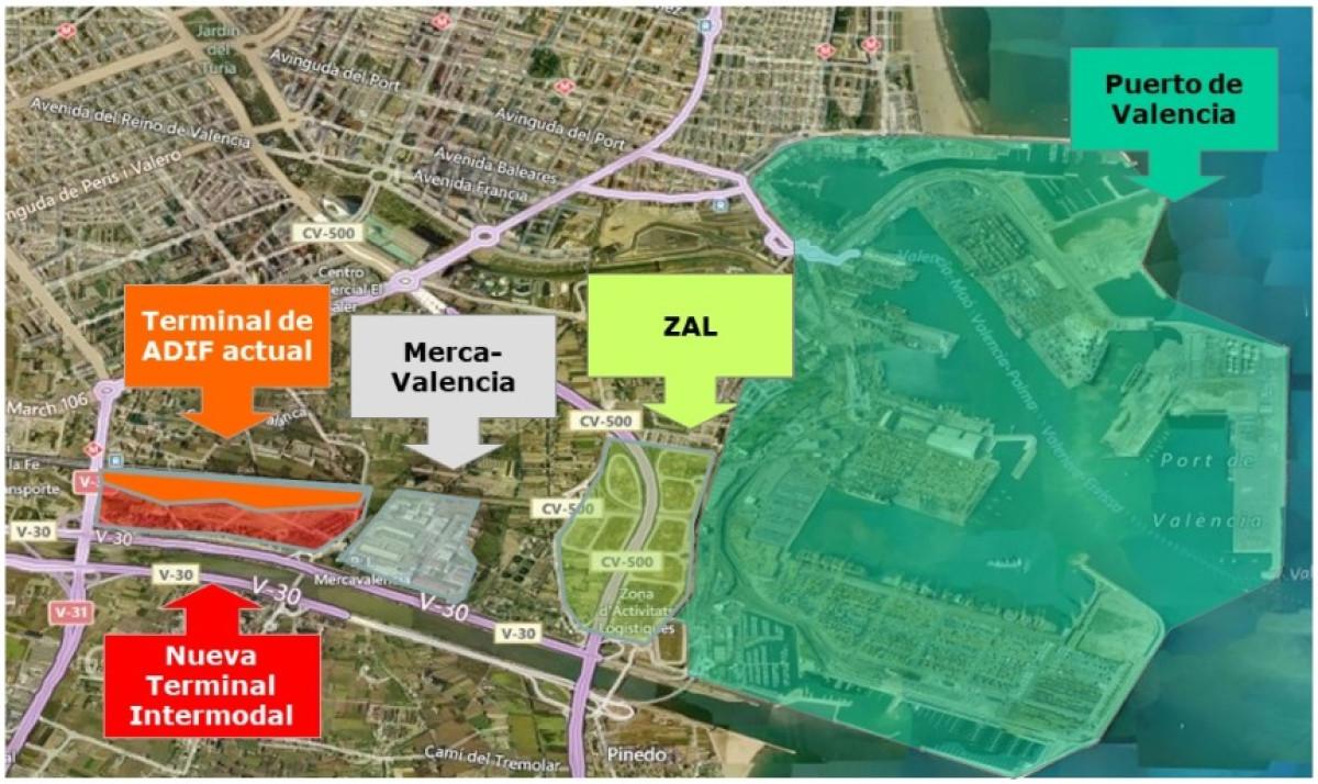 ValenciaPort   Adif   Nueva terminal
