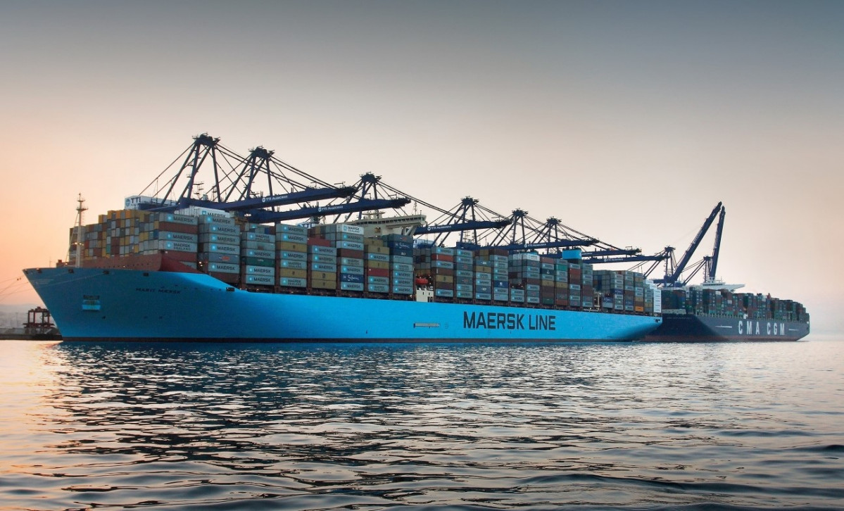 Puerto de Algeciras   Escala Marit Maersk+CMA CGM Marco Polo