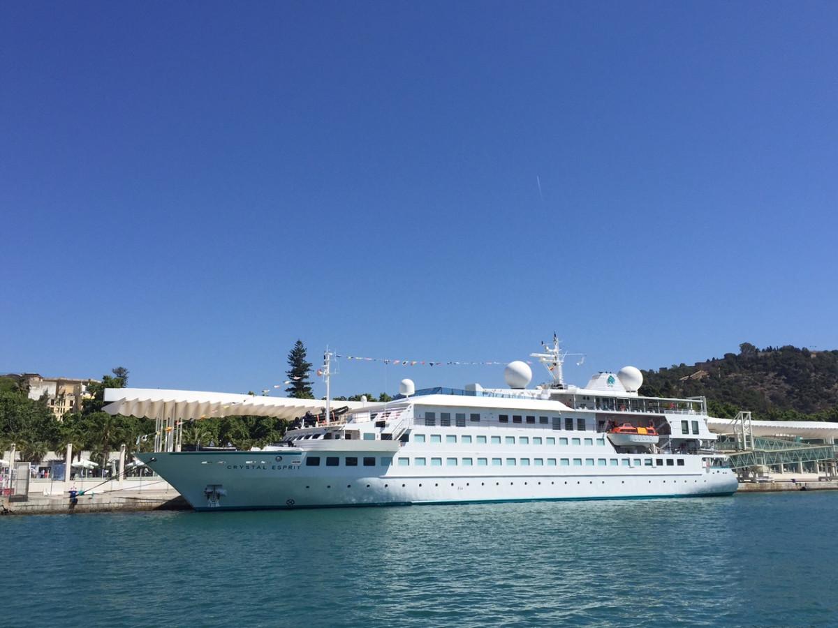 Puerto de Mu00e1laga   Crystal Esprit atracado en el muelle 2