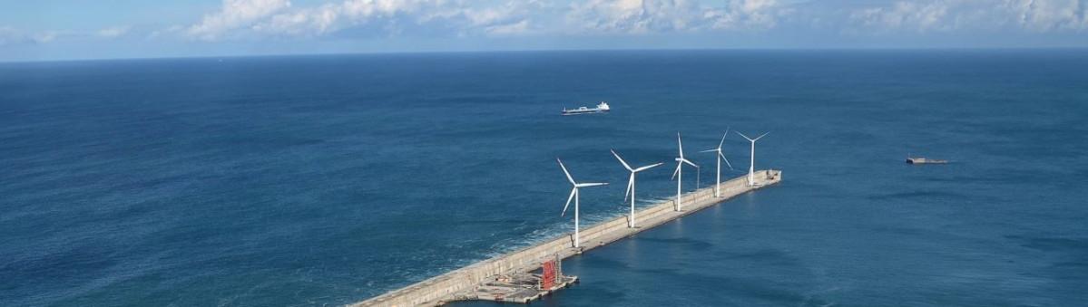 Aerogeneradores puerto Bilbao   detalle