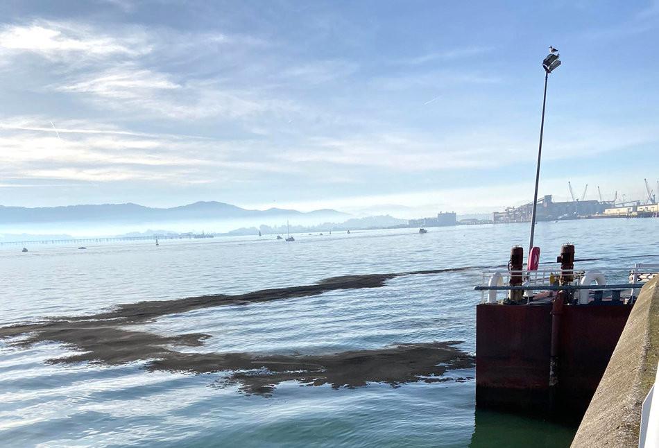 Vertido puerto de Santander   Foto Diario Alerta