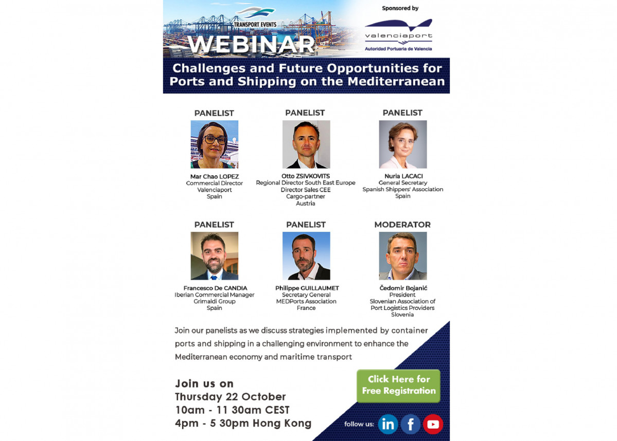Webinar Challenges and Future Opportunities for Ports and Shipping on the Mediterranean