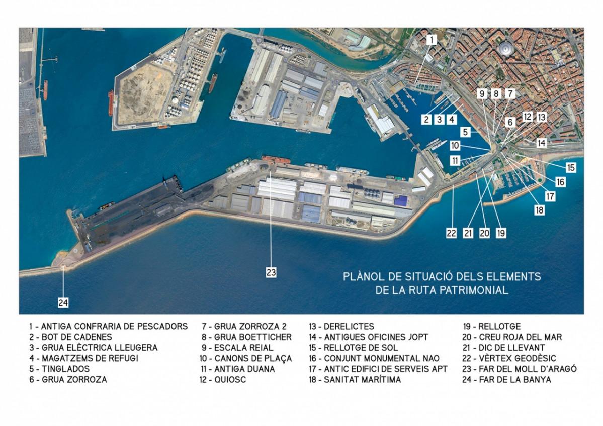 Port de Tarragona   Ruta itinerario puertos